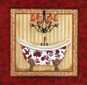 Red Demask Bath I