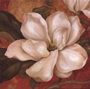 Magnolia On Red II - mini