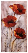 Red Poppies on Taupe II