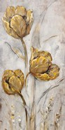 Golden Poppies on Taupe II