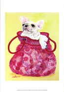 Frenchie in Pink Purse