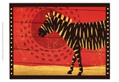 Woodblock Zebra