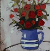 Blue Pitcher Bouquet