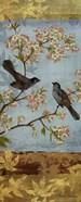 Catbirds & Blooms Panel - mini