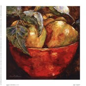Apples In Red Bowl