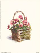 Log Cabin Pansy Basket