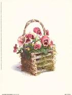 Log Cabin Pansy Basket