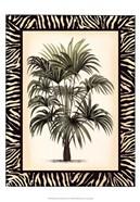 Small Palm in Zebra Border I