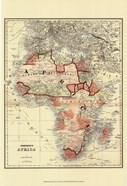 Small Antique Map of Africa (P)