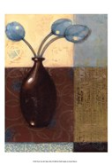 Ebony Vase with Blue Tulips II