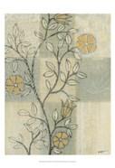 Neutral Linen Blossoms II