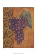 Scrolled Grapes I