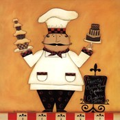 Chef with Desserts