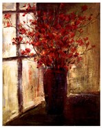 Vase of Red Flowers
