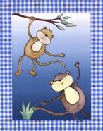 Two by Two Blue - Monkeys