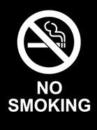 No Smoking - Black and White
