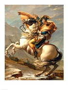 Napoleon (1769-1821) Crossing the Alps at the St Bernard Pass