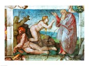 Sistine Chapel ceiling: Creation of eve, with four Ignudi, 1511
