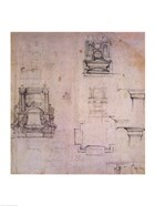 Inv. 1859 6-25-545. R. (W. 25) Designs for tombs