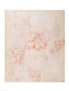 Studies of heads, 1508-12d