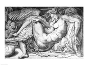 Leda, engraved by Jacobus Bos, Boss or Bossius