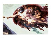 Sistine Chapel Ceiling: Creation of Adam, 1510 (detail)