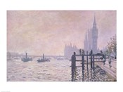 The Thames below Westminster, 1871