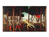 The Story of Nastagio degli Onesti: Nastagio's Vision of the Ghostly Pursuit in the Forest, 1483 or 1487