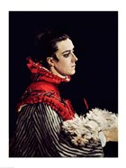 Camille Monet (1847-79) in a Red Cape, 1866