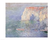Etretat: Le Manneport, reflections on the water, 1885
