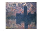 Houses of Parliament, Sunset, 1902