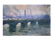 Waterloo Bridge, Cloudy Day, 1900