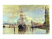 The Seine at Rouen, 1872