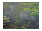 Waterlilies (green with blue)