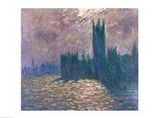 Parliament, Reflections on the Thames, 1905