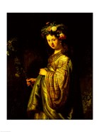 Saskia as Flora, 1634