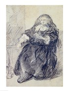 Seated Saskia with a letter in her left hand
