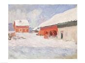 Norway, Red Houses at Bjornegaard, 1895