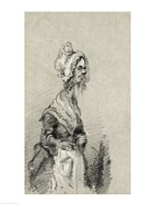 Old Woman from Normandy in Profile, 1857