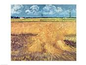 Wheatfield with Sheaves, 1888 - wheat pile