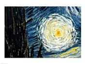 The Starry Night, June 1889 Detail D