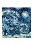 The Starry Night, June 1889 Detail B