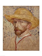 Self Portrait with Straw Hat, 1887