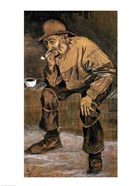 Old man with a pipe, 1883