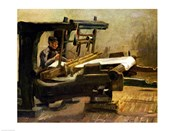 Weaver at the Loom, Facing Right, 1884