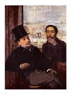 Self Portrait with Evariste de Valernes