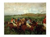 Gentlemen race. Before the Departure, 1862