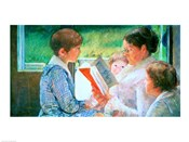 Mrs Cassatt Reading to her Grandchildren, 1888