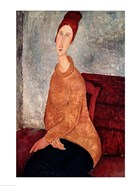 Jeanne Hebuterne in a Yellow Jumper, 1918-19