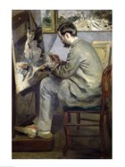 Frederic Bazille at his Easel, 1867